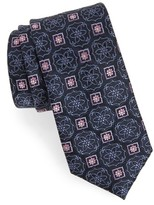 Nordstrom Men's Big & Tall Floral Medallion Silk Tie