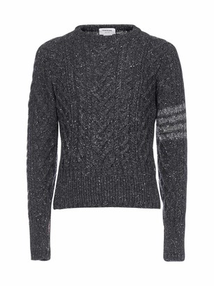 Thom Browne 4-Bar Cable Knit Sweater