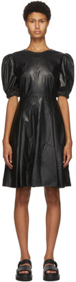 Sjyp Black Faux-Leather Dress
