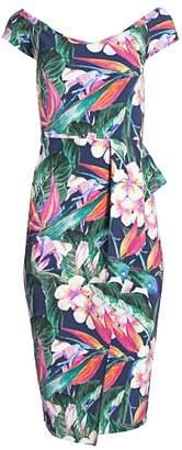 Chiara Boni Berenika Floral Off-The-Shoulder Sheath Dress
