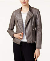 Bar III Faux-Leather Moto Jacket, Created for Macy's