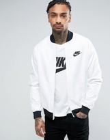 Nike Bomber Jacket In White 832224-100