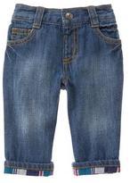 Gymboree Plaid Cuff Jeans