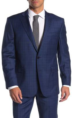 Brooks Brothers Blue Plaid Two Button Notch Lapel Regent Fit Suit Separates Blazer