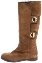Jimmy Choo Shearling-Lined Riding Boots