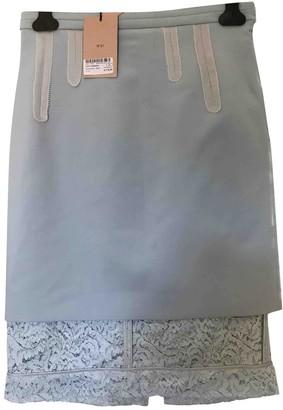 Alessandro Dell'Acqua Navy Wool Skirt for Women