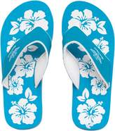 Board Angels Womens EVA Toe Post Sandals Turquoise/White