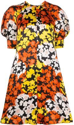 Mcq Swallow Silk Floral Print Dress