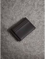 Burberry Check Money Clip Card Case, Red