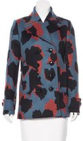 Gucci 2015 Leaf Print Wool Coat w/ Tags