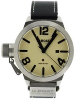U-Boat Classico 5565 Stainless Steel & Leather Beige Dial Automatic 45mm Mens Watch