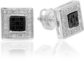 Ice 1/7 CT TW Black and White Diamond Sterling Silver 0 Stud Earrings