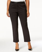 NY Collection Plus Size Cropped Cuffed Pants