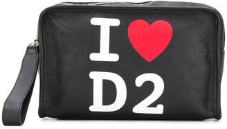 DSQUARED2 Love Logo Print Clutch