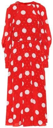 MSGM Polka-dot midi dress