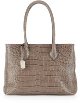 Furla Martha Medium Satchel Bag, Smoked Gray