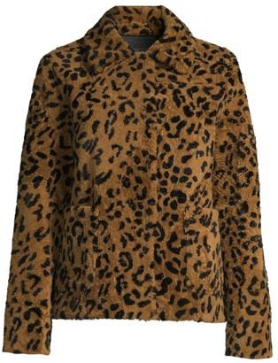 Pologeorgis Cheetah-Print Shearling Jacket