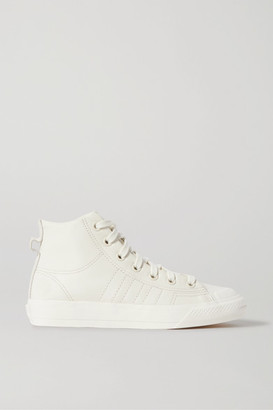 adidas Nizza Hi Rf Suede-trimmed Leather High-top Sneakers - Off-white
