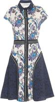 Mary Katrantzou Dunlop point-collar printed dress