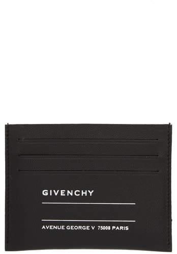 Givenchy Iconic Address Print Lambskin Card Holder