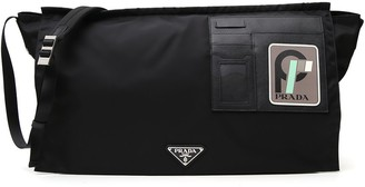 Prada Logo XL Runway Messenger Bag