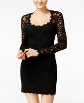 Jump Juniors' Illusion Lace Bodycon Dress