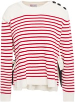 RED Valentino Striped Cotton Sweater