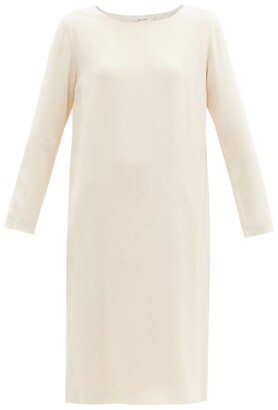 The Row Larina Crepe Tunic Dress - Womens - Cream