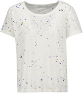 Kain Label Neve paint-splattered cotton and modal-blend T-shirt