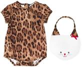 Dolce & Gabbana cat patch babygrow set - kids - Cotton/Spandex/Elastane - 0-3 mth
