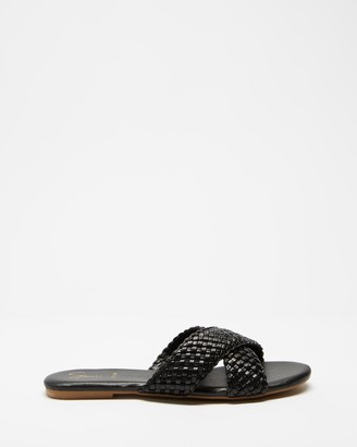 Spurr Women's Black Strappy sandals - Abbie Comfort Sandals - Size 7 at The Iconic