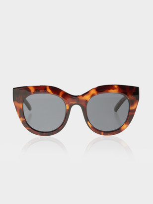 Le Specs Womens Air Heart Sunglasses in Tortoise and Smoke
