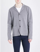Boglioli Blazer-style cotton and cashmere-blend cardigan