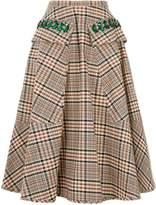 No.21 No. 21 Plaid Cotton Midi Skirt, White, IT 40
