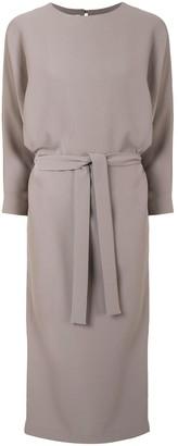 Mark Kenly Domino Tan Dolman Sleeve Dress