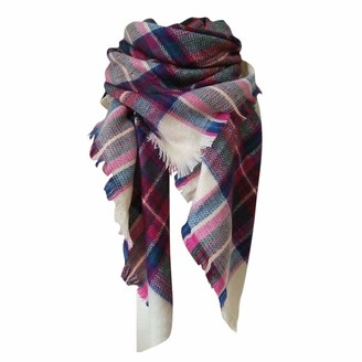 Ladies Winter Warm Cashmere Increase Double-Sided Colorful Square Scarf Shawl by Celucke
