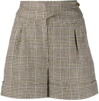 BLAZÉ MILANO Checked High-Waisted Shorts