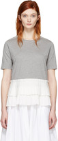 Marni Grey Pleated Hem T-shirt