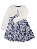Iris & Ivy Girls 7-16 Patterned Fit-and-Flare Dress and Cardigan Set