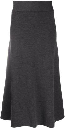 P.A.R.O.S.H. Lyric A-line midi skirt