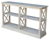 International Concep Hampton Sofa Server Table with Shelves - International Concepts