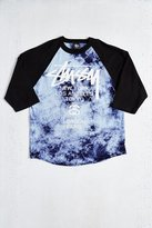Stussy World Tour Tie-Dye Raglan Tee
