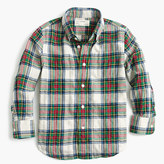 J.Crew Kids' lightweight flannel shirt in festive plaid