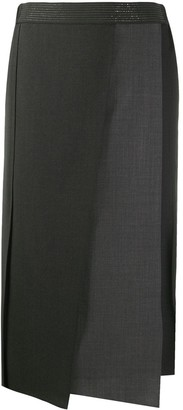 Brunello Cucinelli Asymmetric Panelled Skirt