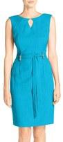 Ellen Tracy Cutout Woven Sheath Dress (Regular & Petite)