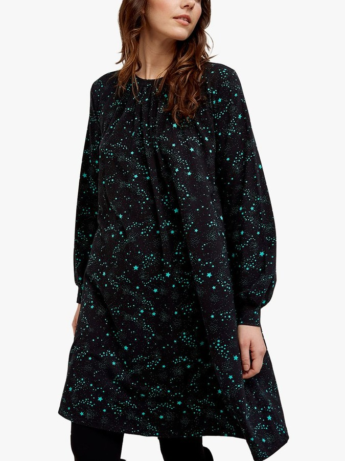 People Tree Ebba Star Dress, Black