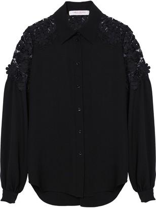Carolina Herrera Lace-Insert Shirt
