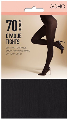 S.O.H.O New York 70D Opaque Tights Charcoal Ave-Tall