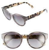 Burberry Women's 50Mm Check & Camo Temple Polarized Sunglasses - Striped Grey