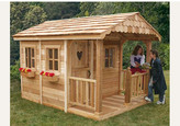 Outdoor Living Today Sunflower Playhouse with 3 Functional Window and Cedar Deck Porch